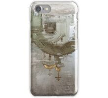church reflected in a puddle iPhone Case/Skin