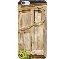 old brown wooden door iPhone Case/Skin