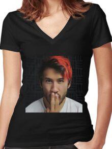 Markiplier - Shh.. Part 2 Women's Fitted V-Neck T-Shirt