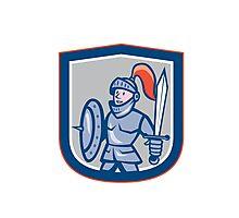 Knight Shield Sword Shield Cartoon Photographic Print