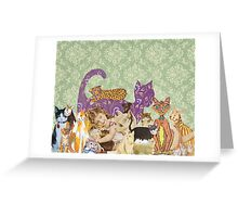 Cute Cat Collage Greeting Card
