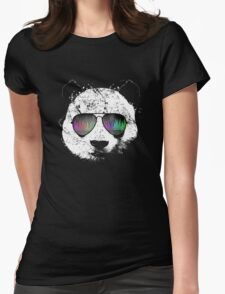 Old School Panda Womens Fitted T-Shirt