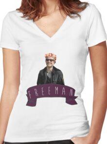 Martin Freeman is Fabulous Women's Fitted V-Neck T-Shirt