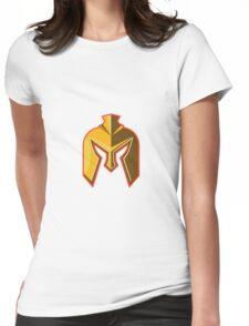 Spartan Helmet Retro Womens Fitted T-Shirt