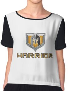 Spartan Warrior Helmet Shield Retro Chiffon Top