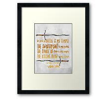an ember in the ashes Framed Print