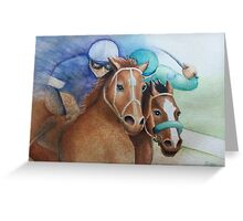 """""""ON THE RAIL"""" Greeting Card"""