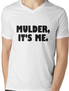 Mulder, It's me black Mens V-Neck T-Shirt