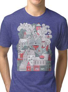 Town cat tea party Tri-blend T-Shirt