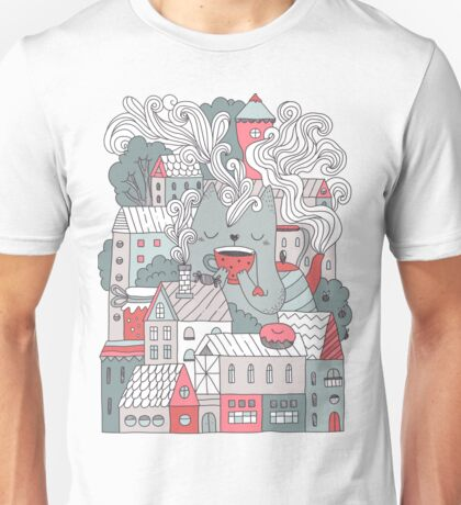 Town cat tea party Unisex T-Shirt