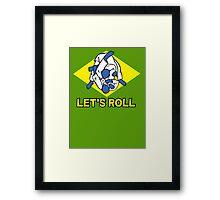 Brazilian jiu-jitsu (BJJ) Let's roll Framed Print