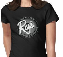 Ray's Music Exchange - Black & White Womens Fitted T-Shirt