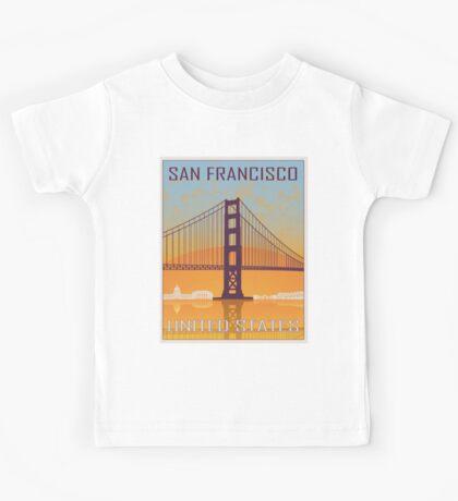San Francisco vintage poster Kids Tee