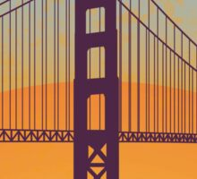 San Francisco vintage poster Sticker