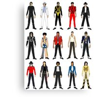 Outfits of King Jackson Pop Music Fashion Canvas Print