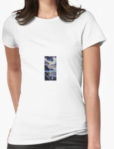 Newgale Moon Womens Fitted T-Shirt