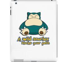 A wild snorlax is blocking your path! iPad Case/Skin