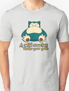 A wild snorlax is blocking your path! T-Shirt