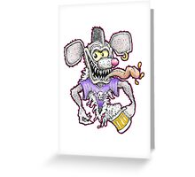 Beer Rat Greeting Card