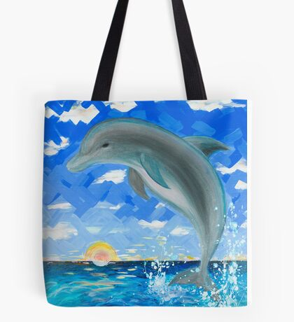 Baby Dolphin  Tote Bag
