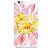 Pink Mixed Media Flower iPhone Case/Skin