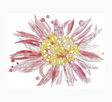 Pink Mixed Media Flower Kids Tee