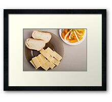 Top view of a snack for veggie Framed Print