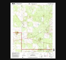 USGS TOPO Map Arizona AZ Ortega Mountain 312721 1998 24000 Unisex T-Shirt