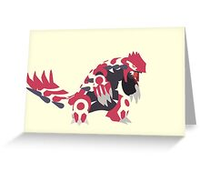 Primal Groudon Greeting Card