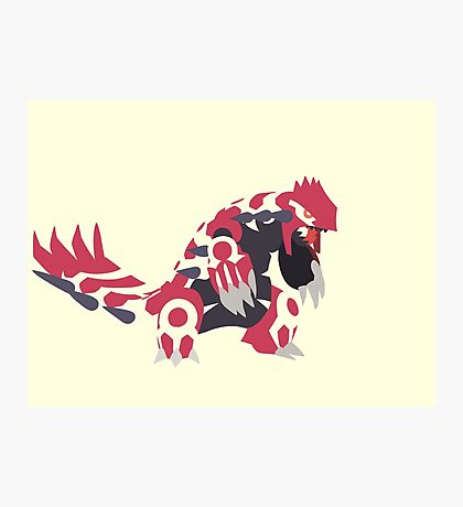 Primal Groudon Photographic Print