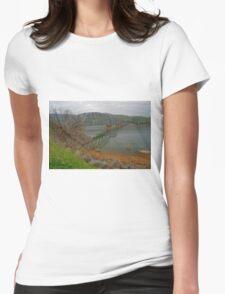 Bethanga bridge at dusk. Womens Fitted T-Shirt