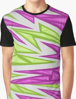 Voxel Triangles - CS:GO Skin (Purple-Green) Graphic T-Shirt