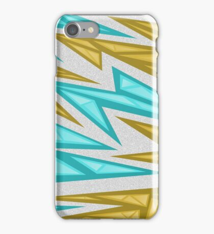 Voxel Triangles - CS:GO Skin (Yellow-Cyan) iPhone Case/Skin