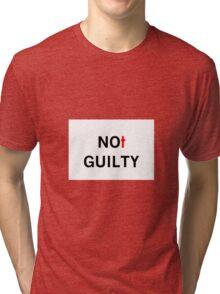 CROSS NOT GUILTY Tri-blend T-Shirt