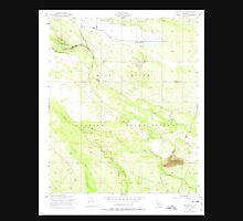 USGS TOPO Map Arizona AZ Pima Butte 312891 1952 24000 Unisex T-Shirt