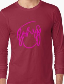 Scott Pilgrim VS the World - Have you seen a girl with hair like this...Ramona Flowers PINK Long Sleeve T-Shirt