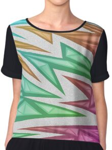Voxel Triangles - CS:GO Skin (Rainbow Fade) Chiffon Top