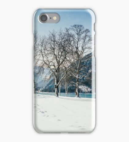 Trees By The Winter Lake iPhone Case/Skin