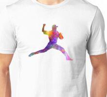 Baseball player throwing a ball Unisex T-Shirt