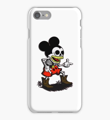 Skeleton mickey zombie mouse iPhone Case/Skin