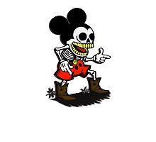 Skeleton mickey zombie mouse Photographic Print