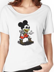 Skeleton mickey zombie mouse Women's Relaxed Fit T-Shirt