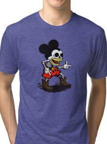 Skeleton mickey zombie mouse Tri-blend T-Shirt
