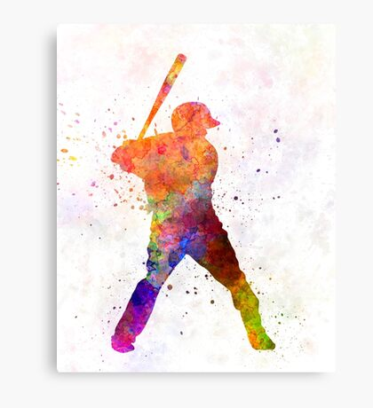 Baseball player waiting for a ball Canvas Print