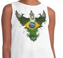 The Paint Art  Brazil Flag Contrast Tank