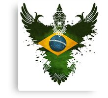 The Paint Art  Brazil Flag Canvas Print