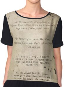 Moony Wormtail Padfoot and Prongs Chiffon Top
