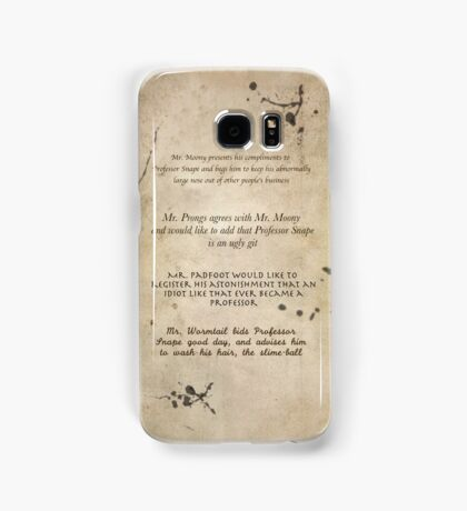 Moony Wormtail Padfoot and Prongs Samsung Galaxy Case/Skin