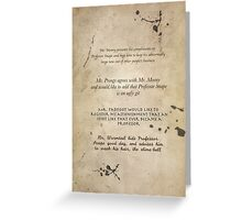 Moony Wormtail Padfoot and Prongs Greeting Card