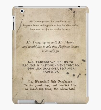 Moony Wormtail Padfoot and Prongs iPad Case/Skin